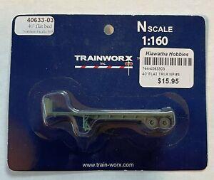 N-Scale Trainworx 40' Flatbed Trailer GN Great Northern G392 40602-02 NIP