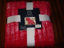 "Chic Home Design Bindi Red Throw Blanket 50"" X 60"" New"
