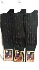 3 Pair 100% Men Mercerized Egyptian Cotton Ribbed Over The Calf Dress Socks 9-11