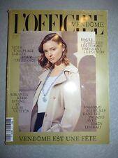 Magazine mode fashion L'OFFICIEL PARIS VENDOME #1 décembre 2016 Miranda Kerr