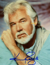 8x10 SIGNED AUTOGRAPH PHOTO REPRINT of Kenny Rogers with borders