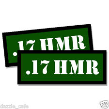 17 HMR Ammo Can Stickers 2x Ammunition Case Labels GREEN Decals 2 pack