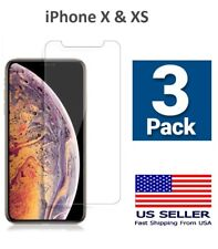 [3 Pack ] Apple iPhone 10 X & XS Tempered Glass Screen Protector Full Coverage