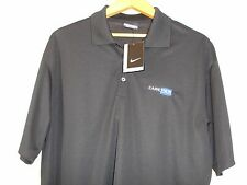 Nike Golf Dri Fit Short Sleeve Polo Shirt CareView Embroidered Logo Black L Nwt