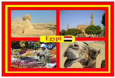 EGYPT - SOUVENIR NOVELTY FRIDGE MAGNET - FLAGS / SIGHTS - BRAND NEW / GIFT