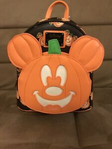 Loungefly Disney Mickey-O-Lantern Glow In The Dark Backpack BRAND NEW W/TAGS