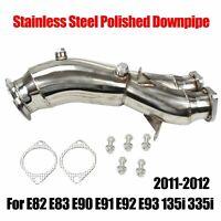 Polished Downpipe Fit 2011-12 E82 E83 E90 E91 E92 E93 135i 335i Finely Processed