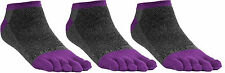 FUN TOES Women's Cotton Toe Socks 3 pack size 9-11 GRAY - PURPLE great for yoga!