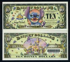 Disney, $10, 2005, D-prefix, UNC 50th Anniversary of Disneyland