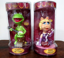 KERMIT THE FROG / MISS PIGGY BOBBLEHEADS 25TH YEAR ANNIVERSARY