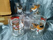 VINTAGE FRITOLAY CHESTER CHETAH CHEETOS PLASTIC DRINKING GLASS / CUP TUMBLER SET
