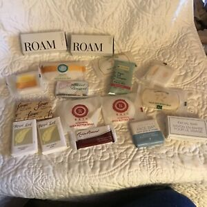 Lot of Travel Soaps And 2 Shower Caps 15 Soaps Please Look At Pictures