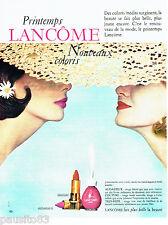PUBLICITE ADVERTISING 096  1963  Lancome maquillage vernis ongle rouge à lèvres