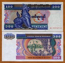 Myanmar, 100 Kyats ND (1997), Pick 74 (74b), UNC