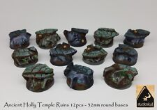 32mm Ancient Holly Temple Ruins 12pcs - round bases AGE OF SIGMAR WARHAMMER 40K