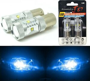 LED Light 30W 1156 Blue 10000K Two Bulbs Front Turn Signal Replacement Show Use