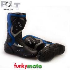 Bottes bleues pour motocyclette