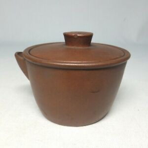 D1981: Chinese SHUDEI unglazed pottery teapot for SENCHA w/very good atmosphere