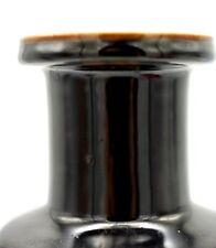 Antique Chinese Black Glazed Rouleau Vase