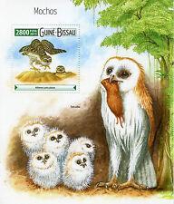 Guinea-Bissau 2015 MNH Owls 1v S/S Birds of Prey Fauna Mochos