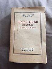 """1950s """"DIX-HUITIEME SIECLE ETUDES LITTERAIRES"""" LIVRE DE POCHE PAPERBACK BOOK"""