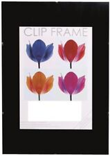 A 3 Clip Frame 30 x 42 Cm Non-glass Front Perspex Metal Clips MDF Backboard New