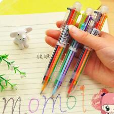 Supplies 6 Colors Students Ballpen Highlighter Stationery Ballpoint  Pen