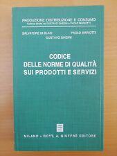 AA. VV 1993 GIUFFRÈ Codice Delle Norme Di Qualità Sui Prodotti E Servizi