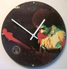 "Jimi Hendrix Hendrix in the West Album Clock 11.5"" round battery operated"