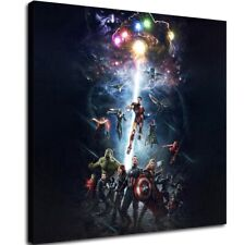 """12""""x12""""Avengers Thanos Poster HD Canvas Print Painting Home decor Wall art"""