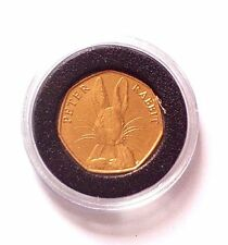 Peter Rabbit 24k Gold Plated 2016 collectable 50p coin