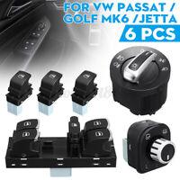 Interrupteur Phare Lève Vitre Rétroviseur Miroir Pour VW Passat B6 CC Golf  #