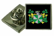 Lampet England Family Crest Coat Of Arms Lapel Pin Badge Engraved Gift Case