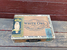 White Owl Blended with Havana Invincible Cigar Box with Tax Stamp Remnant