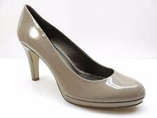 Bandolino Taupe Brown Faux Patent Leather Platform Dress Pumps 12M 12 MSRP $89