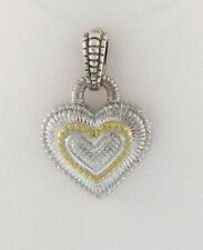 Judith Ripka18K Gold/ Sterling Silver Heart Pendant