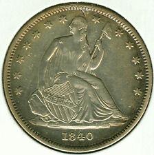 1840 (Small Date) Seated Liberty Half Dollar - AU