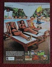 2002 Print Ad PLAYSTATION Video Game ~ JAK and Daxter w/ Pretty Girls at Pool