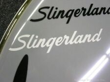 Slingerland White 50's 60's Vintage Logo Replacement