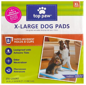 Top Paw New and Improved X-Large Dog Pads 150 Count