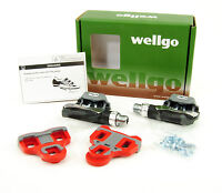 WELLGO R168 KEO ROAD BIKE PEDALS WITH CLEATS