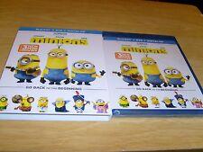 Minions Blu-Ray + DVD Digital HD New & Sealed w Slip Case Incl 3 New Mini Movies