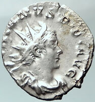 Valerian I 258AD Silver Ancient Roman Coin Very Rare Vulcan Temple  i41655