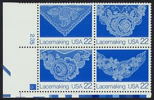 #2354a 22c Lacemaking, Plate Block [1235-2 LL] Mint **ANY 5=FREE SHIPPING**
