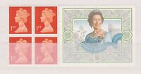GB STAMP LABEL QEII 70TH BIRTHDAY MNH EX BOOKLET PANE 1996 UMM