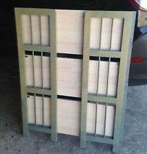 Retro Shelving Unit Solid Wood Quality soft Easy Clean Green/Beige 38x30x12in