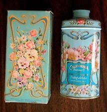 "1977 Avon ""California Purfume Co."" 91st Anniversary Keepsake Talc Tin in Box"