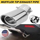 Auto Car Exhaust Pipe Tip Tail Muffler Stainless Steel Replacement Accessories A
