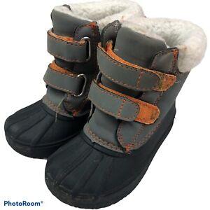Gymboree Kids Toddler Size 6 Boots Duck Rain Winter Fleece Lined Rubber Toes