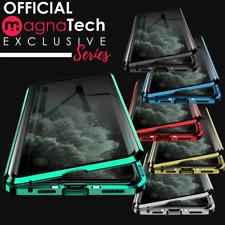 360 ° Parte Delantera + Posterior Vidrio Magnética Teléfono Caja de Metal para iPhone 11 PRO MAX XR XS X